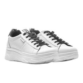 Biało czarne sneakersy sportowe BO-529 1