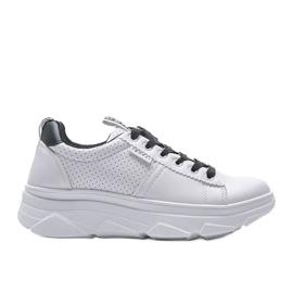 Biało czarne sneakersy sportowe BO-529 4
