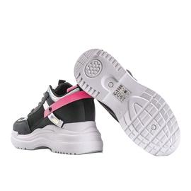Czarne sneakersy na grubej podeszwie Johana 2