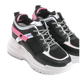 Czarne sneakersy na grubej podeszwie Johana 3