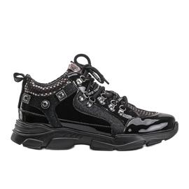 Czarne sneakersy na koturnie Giovanna 5