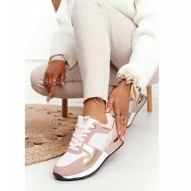 Damskie Sportowe Buty Sneakersy Beżowe Z Brokatem Belinda beżowy wielokolorowe 1
