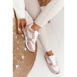 Damskie Sportowe Buty Sneakersy Beżowe Z Brokatem Belinda beżowy wielokolorowe 3
