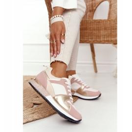 Damskie Sportowe Buty Sneakersy Beżowe Z Brokatem Belinda beżowy wielokolorowe 4