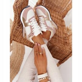 Damskie Sportowe Buty Sneakersy Beżowe Z Brokatem Belinda beżowy wielokolorowe 5