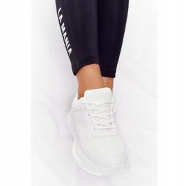 FB2 Damskie Sneakersy Na Dużej Podeszwie Białe Delusion 2