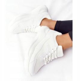 FB2 Damskie Sneakersy Na Dużej Podeszwie Białe Delusion 4