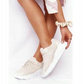 FB2 Damskie Sneakersy Na Dużej Podeszwie Beżowe Delusion beżowy 2