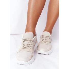 FB2 Damskie Sneakersy Na Dużej Podeszwie Beżowe Delusion beżowy 1