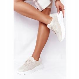 FB2 Damskie Sneakersy Na Dużej Podeszwie Beżowe Delusion beżowy 3