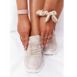 FB2 Damskie Sneakersy Na Dużej Podeszwie Beżowe Delusion beżowy 6