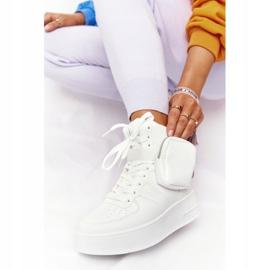 Damskie Sportowe Buty Na Platformie Z Nerką Białe Alexis 7