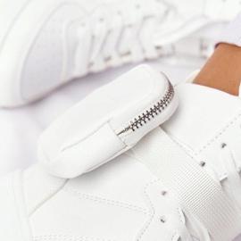 Damskie Sportowe Buty Na Platformie Z Nerką Białe Alexis 1