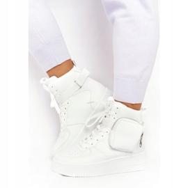 Damskie Sportowe Buty Na Platformie Z Nerką Białe Alexis 4