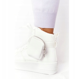 Damskie Sportowe Buty Na Platformie Z Nerką Białe Alexis 5