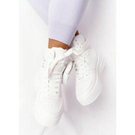 Damskie Sportowe Buty Na Platformie Z Nerką Białe Alexis 6