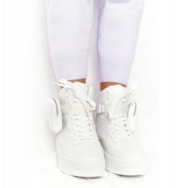 Damskie Sportowe Buty Na Platformie Z Nerką Białe Alexis 3