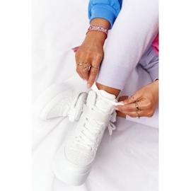 Damskie Sportowe Buty Na Platformie Z Nerką Białe Alexis 8