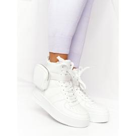 Damskie Sportowe Buty Na Platformie Z Nerką Białe Alexis 2
