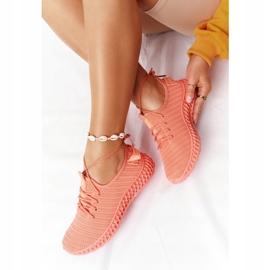 PS1 Damskie Sportowe Buty Slip-on Koralowe Do It pomarańczowe różowe 2