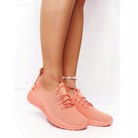 PS1 Damskie Sportowe Buty Slip-on Koralowe Do It pomarańczowe różowe 4