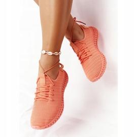 PS1 Damskie Sportowe Buty Slip-on Koralowe Do It pomarańczowe różowe 1