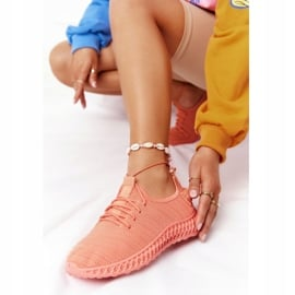PS1 Damskie Sportowe Buty Slip-on Koralowe Do It pomarańczowe różowe 3