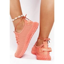 PS1 Damskie Sportowe Buty Slip-on Koralowe Do It pomarańczowe różowe 6