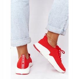 Damskie Sportowe Buty Slip-on Big Star DD274580 Czerwone 5