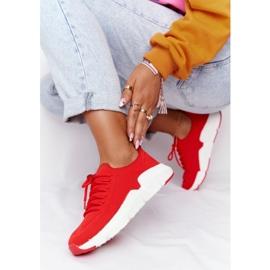 Damskie Sportowe Buty Slip-on Big Star DD274580 Czerwone 2