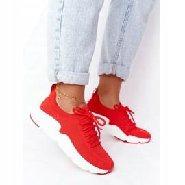 Damskie Sportowe Buty Slip-on Big Star DD274580 Czerwone 4