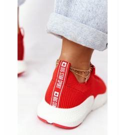 Damskie Sportowe Buty Slip-on Big Star DD274580 Czerwone 6