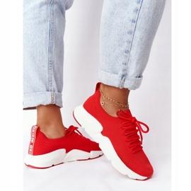 Damskie Sportowe Buty Slip-on Big Star DD274580 Czerwone 7