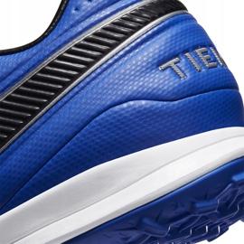 Buty piłkarskie Nike Tiempo Legend 8 Pro Tf AT6136 104 niebieskie białe 6