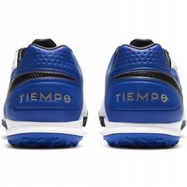 Buty piłkarskie Nike Tiempo Legend 8 Pro Tf AT6136 104 niebieskie białe 4