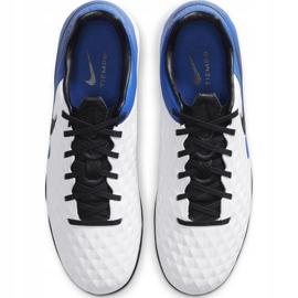 Buty piłkarskie Nike Tiempo Legend 8 Pro Tf AT6136 104 niebieskie białe 1