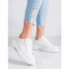 SHELOVET Sneakersy Z Ćwiekami białe 3
