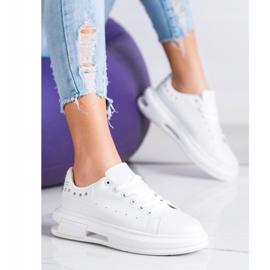 SHELOVET Sneakersy Z Ćwiekami białe 4