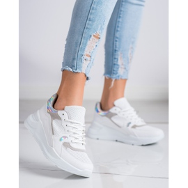 SHELOVET Białe Sneakersy 2