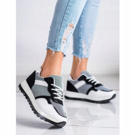 Bestelle Sneakersy Z Brokatową Platformą białe czarne 1