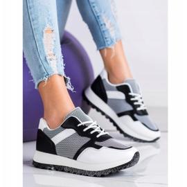 Bestelle Sneakersy Z Brokatową Platformą białe czarne 4
