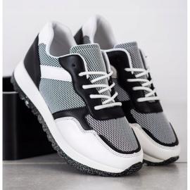 Bestelle Sneakersy Z Brokatową Platformą białe czarne 2