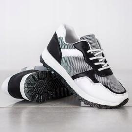 Bestelle Sneakersy Z Brokatową Platformą białe czarne 3