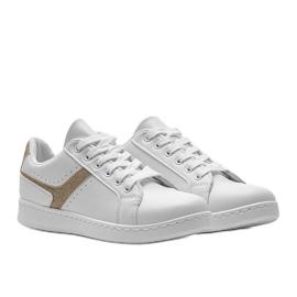 Biało złote tenisówki sportowe Alma białe 1