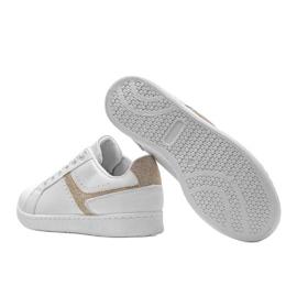 Biało złote tenisówki sportowe Alma białe 2