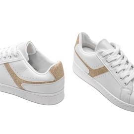 Biało złote tenisówki sportowe Alma białe 3