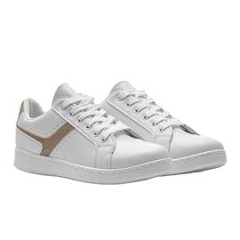 Biało złote tenisówki sportowe Alma białe 4