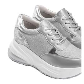 Srebrne sneakersy na grubej podeszwie Amy srebrny 3