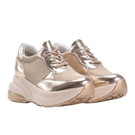 Złote sneakersy na grubej podeszwie Amy złoty 1