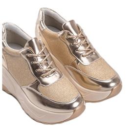 Złote sneakersy na grubej podeszwie Amy złoty 3